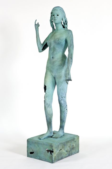 Object of Antiquity (Athena), 2011 Bronze 83 x 40 x 19 inches