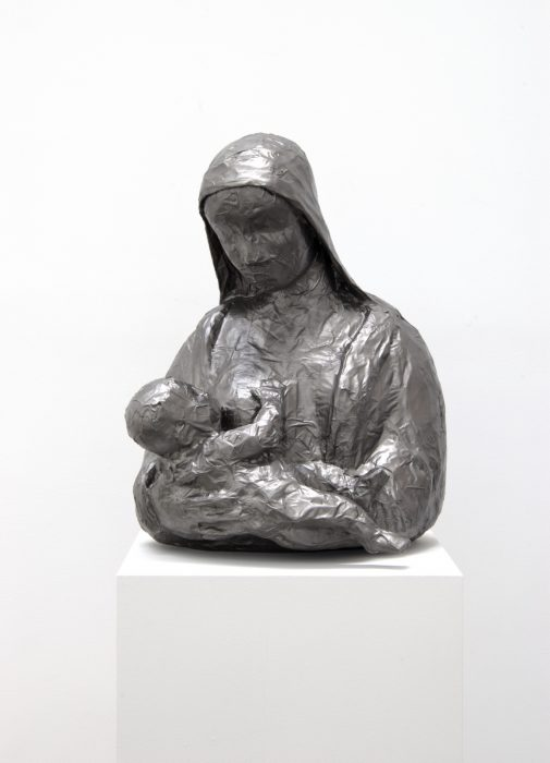 Mother and Child, 2011 Stainless steel 24 x 20 x 16 inches
