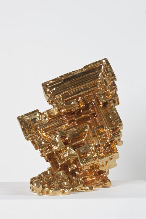 Scholar's Rock, 2011 Bronze with 24k gold plating 14.88 x 16 x 13.5 inches