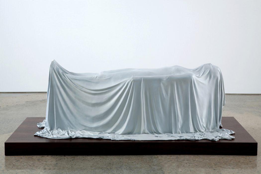 Levitating Woman, 2012 Cast bronze 30 x 84 x 39 inches