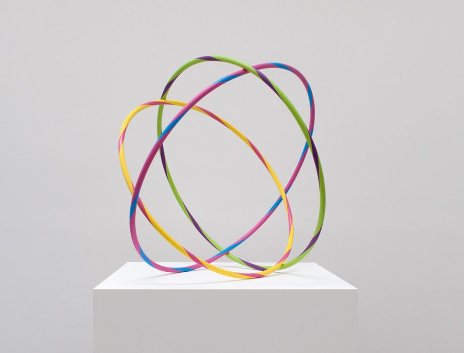 Nesting Hula-Hoops, 2013 Painted stainless steel 36 x 36 x 36 inches