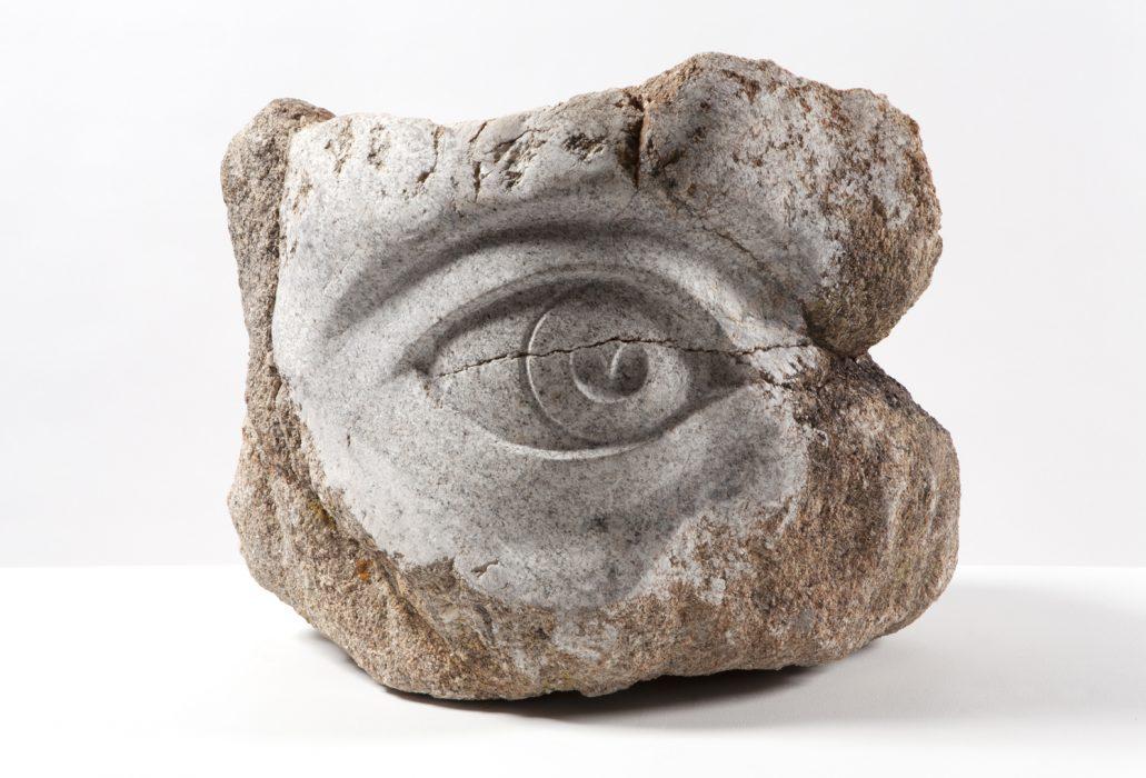 Stone Eye, 2014 Carved granite21.75 x 26 x 22 inches