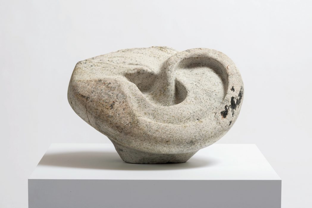 Stone Ear, 2014Carved granite 16.5 x 25.5 x 17 inches