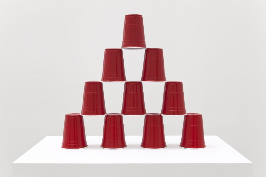 Party Cup Pyramid, 2014 Painted bronze 19 x 21 x 4 inches