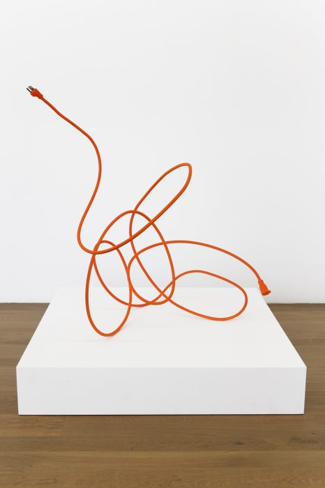 Extension Cord 5 (Free Radical), 2013 Mild steel with rubberized paint 33 x 29 x 22 inches