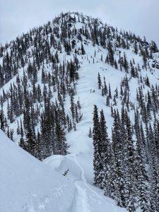 View of the Arrowhead ascent ridge