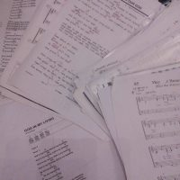 pile of sheet music