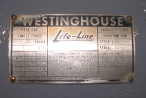 Old Westinghouse Motor Questions  SmokStak