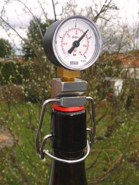 MattMill Bügelflaschenmanometer