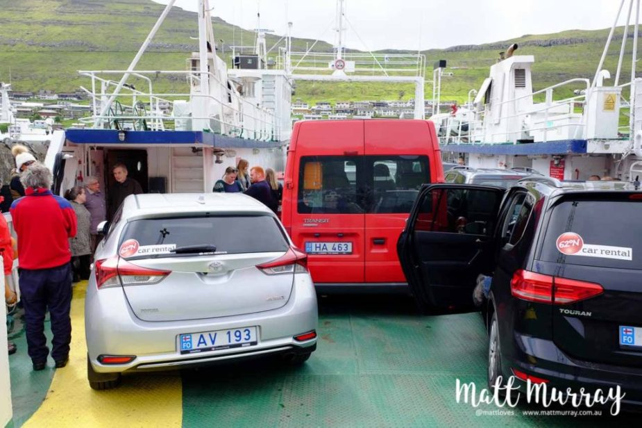 Car ferry from Klaksvik to the island of Kalsoy