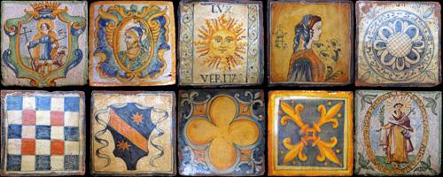 Piastrelle Medievali Repro  Mattoni Decorati