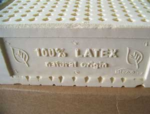 A Natural Latex Mattress Without Cover