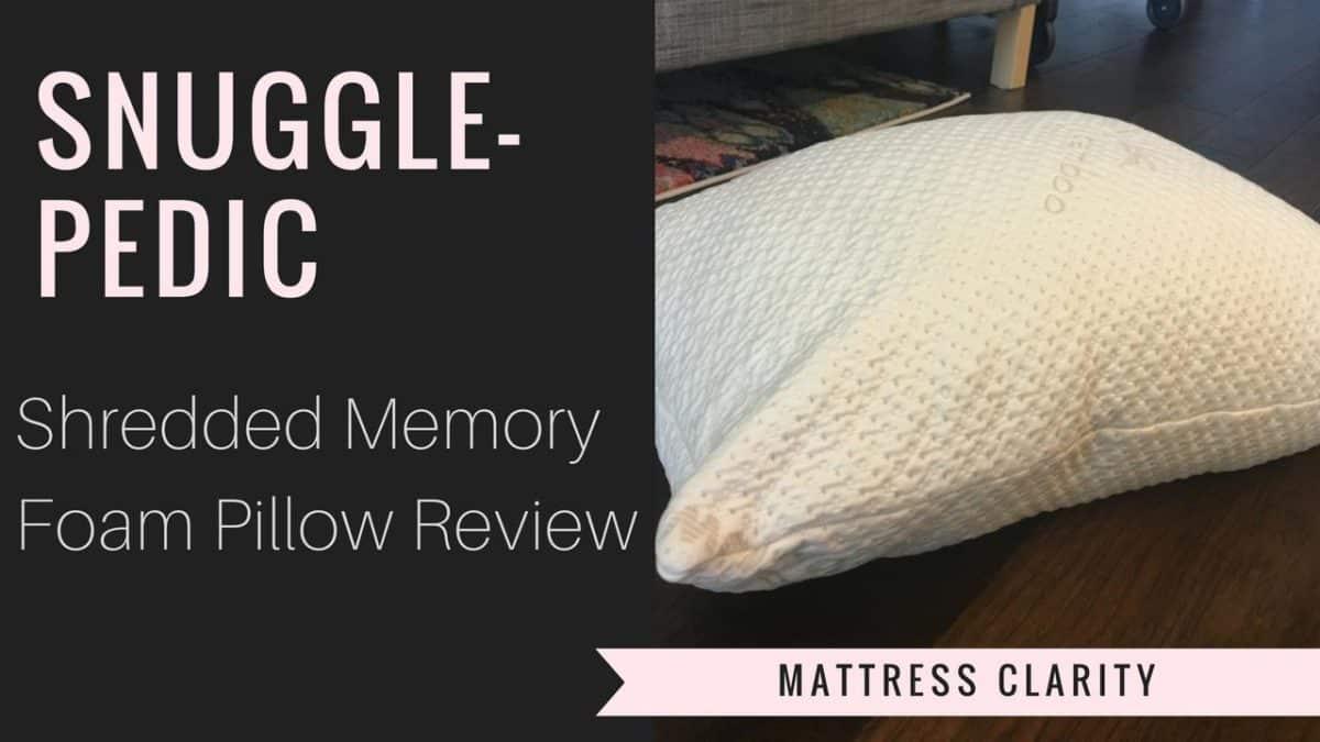 SnugglePedic Adjustable Shredded Memory Foam Pillow Review