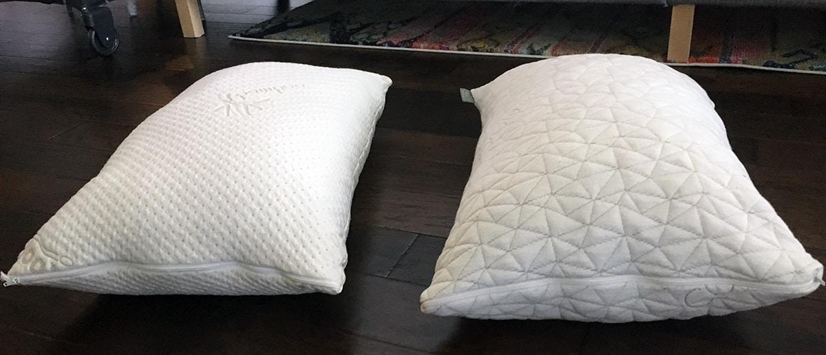 pillow reviews snuggle pedic vs coop