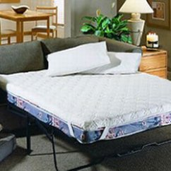 Sofa Bed With Innerspring Mattress Sure Fit Natural Slipcover Topper   Pad
