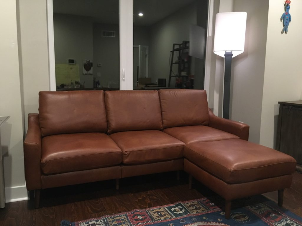 burrow leather couch review is this