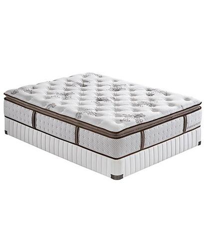 stearns foster provencial plush euro pillowtop mattress full set