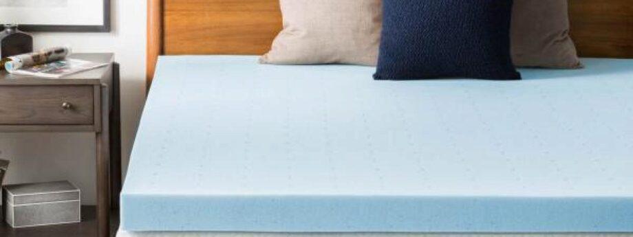 lucid memory foam mattress topper