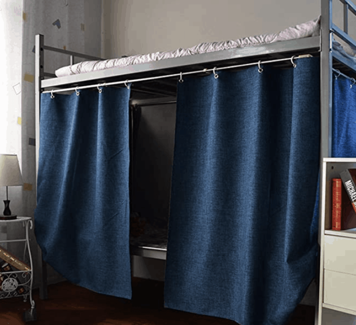 how to hang curtains on a bunk bed