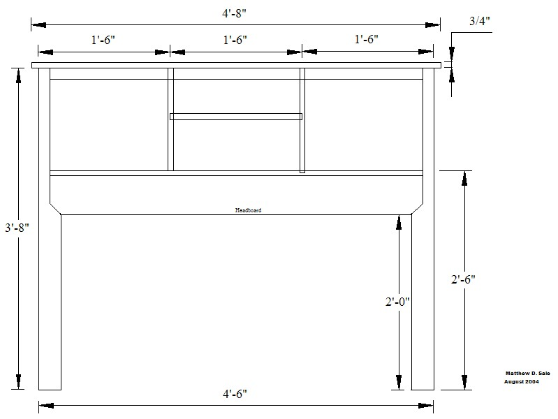 bookcase headboard plans