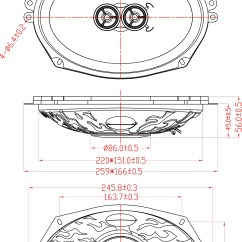 Dual Voice Coil 6x9 Deh P5000ub Wiring Diagram Retrosound Quot Inch 3 Way Stereo Replacement Universal