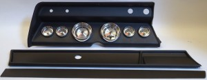 1966 Chevelle Complete Black 6 Gauge Panel with AutoMeter