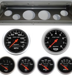66 67 nova classic thunder road dash panel w sport comp electric gauges 10266021 [ 935 x 900 Pixel ]