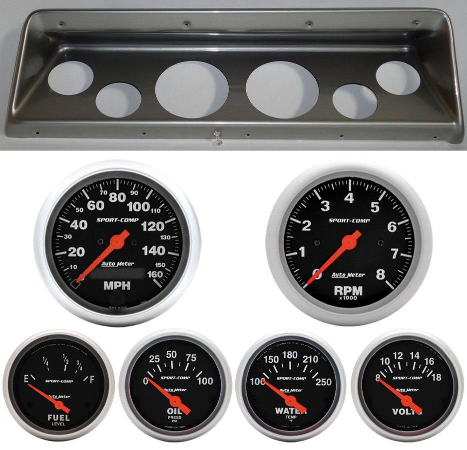 medium resolution of 66 67 nova classic thunder road dash panel w sport comp electric gauges