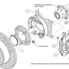 2001 Mustang Parts Diagram Wiring For House Thermostat Wilwood Rear Disc Brake Kit 12.19 - 4 Piston | 140-7149