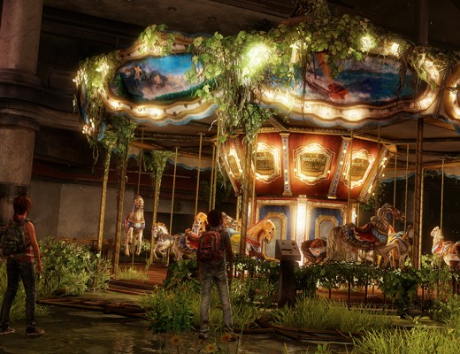 the last of us left behind Ellie and Riley at Carousel