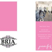 BRIA Salon business cards