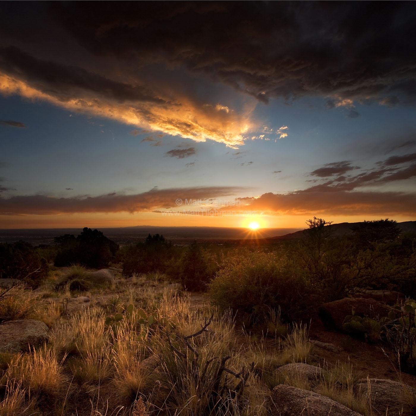 new mexico desert sunset