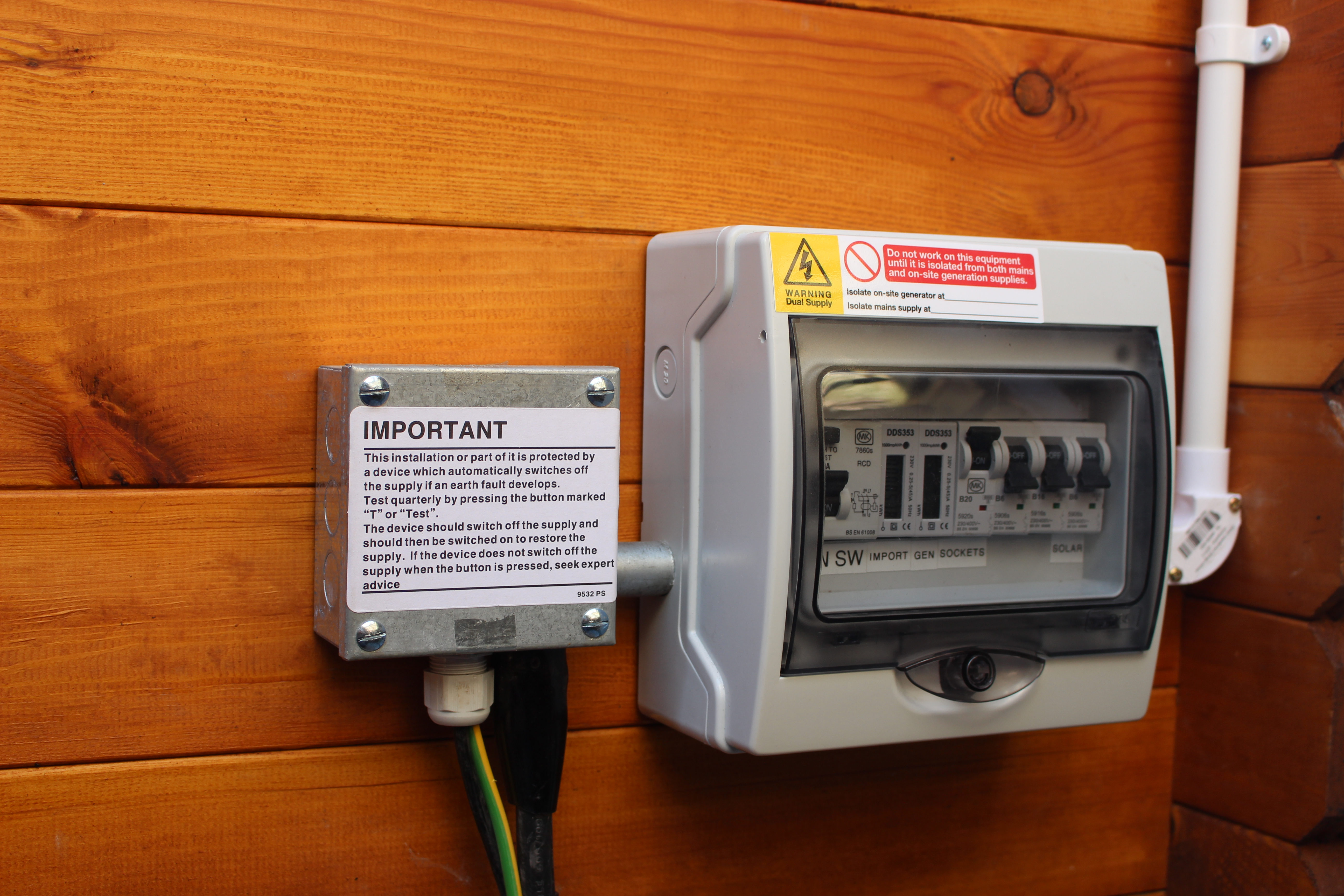 shed consumer unit wiring diagram lovely hpm how to install electrics into a log cabin matt wilson armoured termination