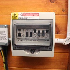 Shed Consumer Unit Wiring Diagram Lovely 93 Ford Ranger Fuse How To Install Electrics Into A Log Cabin Matt Wilson Rj45 Outlet Fed From Cat6 Cable