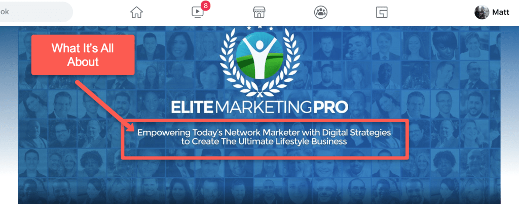 Elite Marketing Pro Facebook Group Community