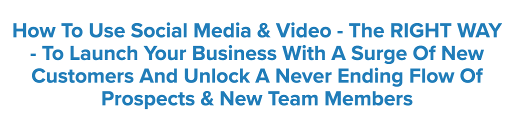 use social media and video to build an MLM business