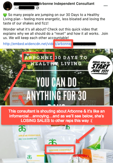 Wrong way to sell Arbonne