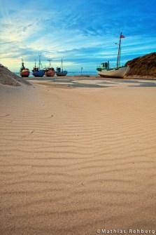 lokken-daenemark-nordjuetland-harbor-boote