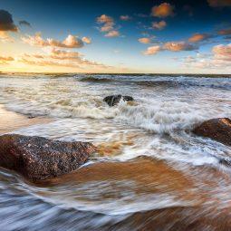 Ostsee-Wellen-Langzeitbelichtung