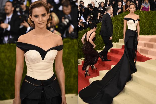 Emma Watson veste Calvin Klein Collection