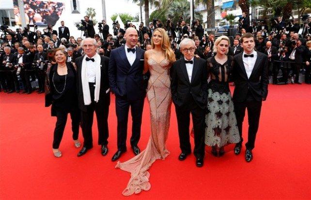 "Woody Allen e elenco de ""Café Society"" - Blake Lively, Kristen Stewart, Corey Stoll e Jesse Eisenberg"