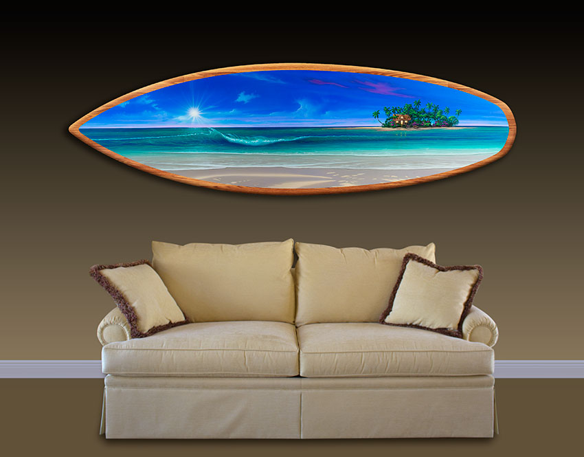 Surfboard Wall Art Home Decorations