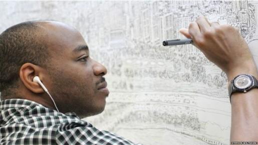 Hombre que puede ver una ciudad y dibujarla de memoria