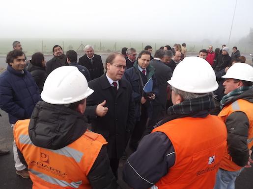 Ministro del MOP visitó avance del baipás de San Clemente