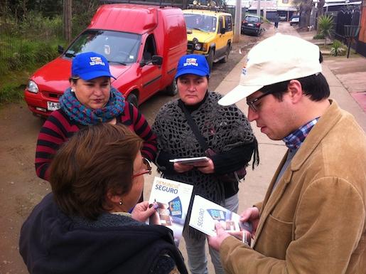 """Seguridad Pública difunde """"Denuncia Seguro"""" en barrios de la ciudad de Talca"""