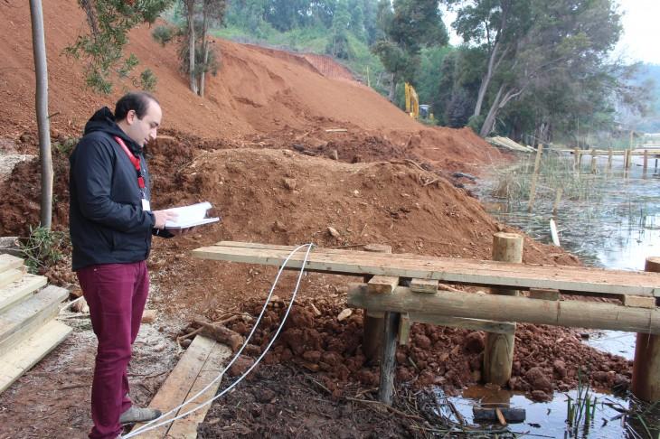 Acusan grave daño ambiental por obra de relleno en lago Vichuquén