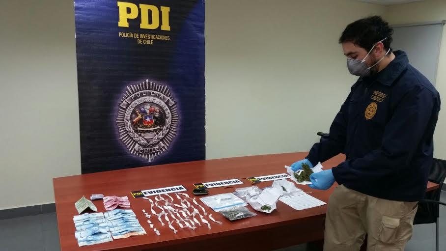 PDI Constitución detiene a tres personas por microtráfico a metros de colegios