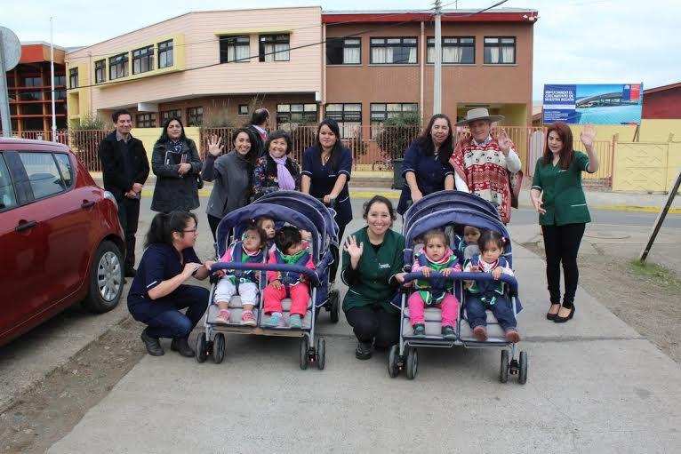 Jardín infantil de Integra en Pelluhue cuenta con innovadores carros de evacuación ante emergencias