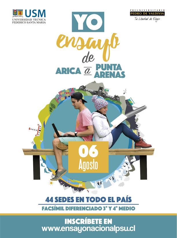 Colegio Constitución y Universidad Técnica Federico Santa María realizarán Ensayo Nacional PSU
