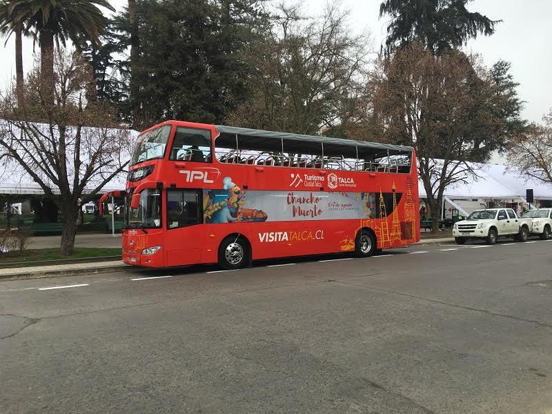 Bus turístico ya funciona con cuatro recorridos por Talca